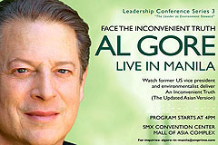 Al Gore face The Inconvenient Truth Live in Manila Philippines