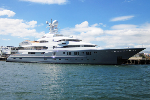 full size photograph Superyacht TV in Subic Bay Philippines