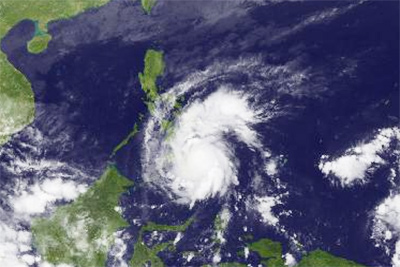 super typhoon Bopha satellite